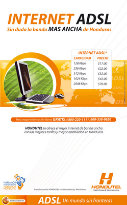 Internet ADSL de Hondutel
