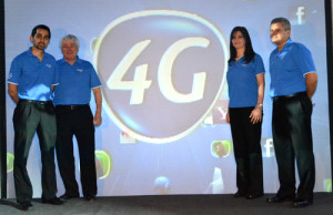 Tavel Otero y Jacqueline Fléfil presentan la red 4G de Tigo,.